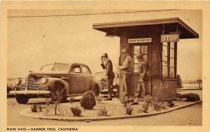 Main Gate Guard House Hammer Army Air Field Fresno California WWII postcard