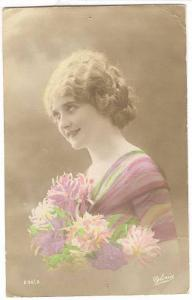 RP; Woman with flowers , 00-10s