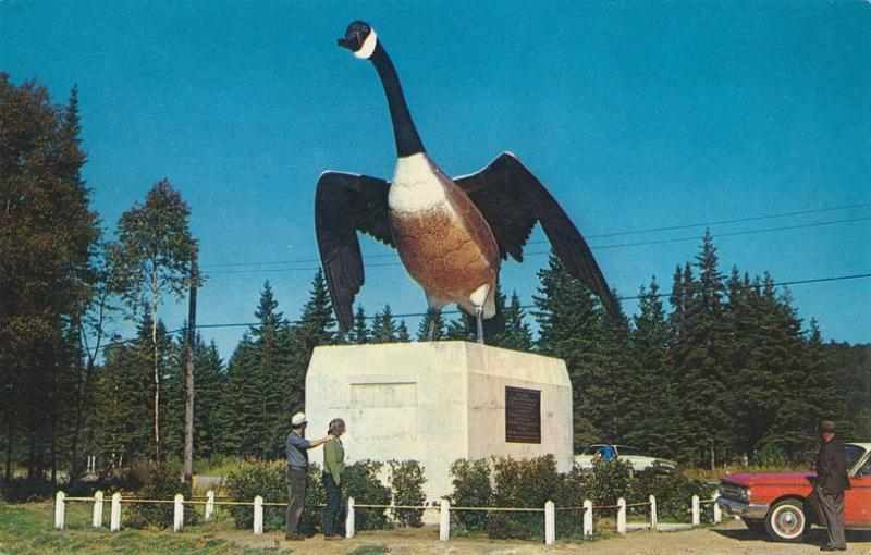 Famous Steel Goose Statue at Wawa, Ontario, Canada - Roadside