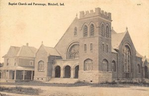LP32 Baptist Church Mitchell  Indiana Vintage Postcard