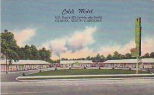 South Carolina Olanta Coles Motel