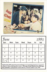 1991 Movie Poster Calendar Series June Babe Comes Home