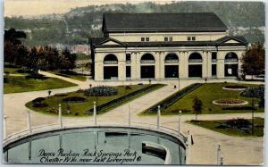 Chester, West Virginia Postcard Dance Pavilion, Rock Springs Park 1910s UNUSED