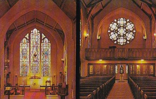 Interior Of Morris Chapel Alter And West Window & Rose Window Stockton Califo...