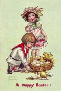 1909 Tuck & Sons Series No. 130 A HAPPY EASTER Katharine Gassaway illustration