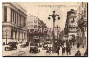 Old Postcard Marseille The Cannebiere