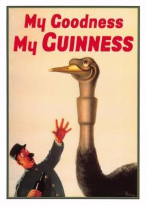 Postcard My Goodness My Guinness Reproduction Advertising Card