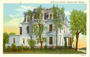 Governor's Mansion, Jefferson City, Missouri MO, 1952 Linen