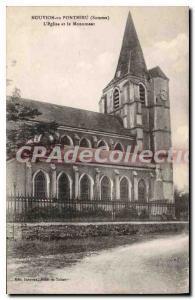 Old Postcard Nouvion En Ponthieu The Church And The Monument