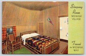 Mammoth Caves Kentucky~Redford Wigwam Villages~Sleeping Room~Bath~1939 Linen PC