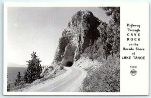 VTG Postcard Real Photo RPPC California CA Cave Rock Lake Tahoe Frashers B1