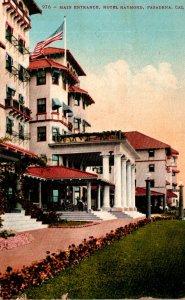 California Pasadena Hotel Raymond Main Entrance 1910