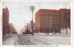 SALT LAKE CITY , Utah, 00-10s ; Main Street showing Desert News Newspaper Bldg