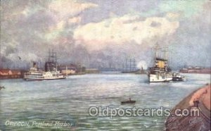 Oregon, Portland, Harbor, USA Steamer, Steamers, Ship Unused
