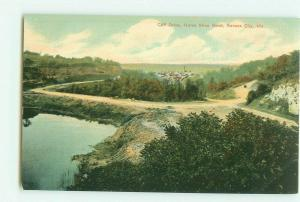 Cliff Drive, Horseshoe Bend, Kansas City, Missouri MO Pre-Linen Postcard
