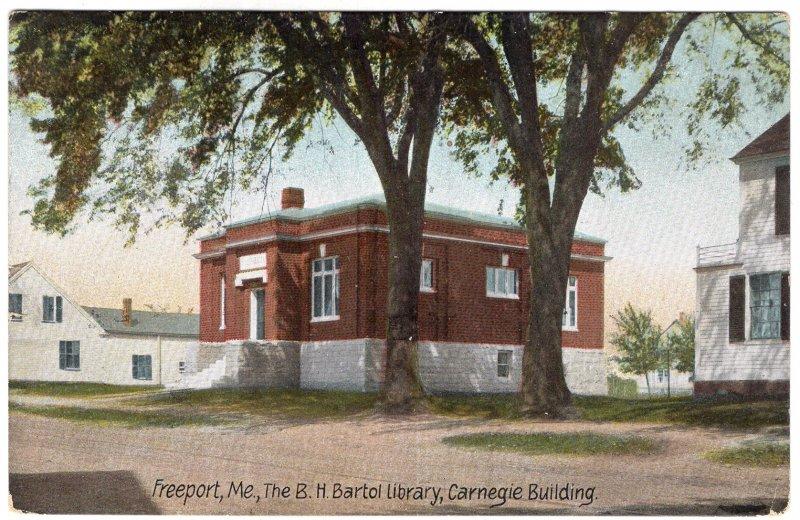 Freeport, Me, The B.H. Bartol Library, Carnegie Building