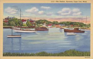 CAPE COD, Massachusetts; The Harbor, Hyannis, PU-1944