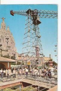 Postal 041812 : Barcelona. Cumbre del Tibidabo. Atracciones y Templo del Sagr...