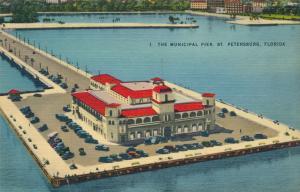Municipal Pier at St Petersburg FL, Florida - Linen