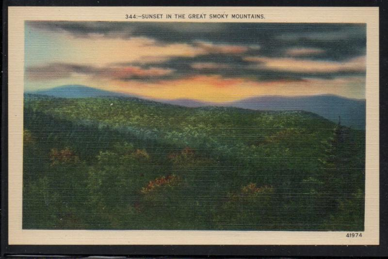 Sunset The Great Smoky Mountains  unused
