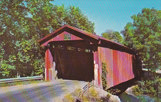 Stevenson Road Covered Bridge Greene County Near Xenia Ohio