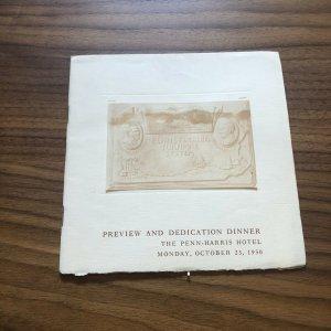 PREVIEW DINNER PROGRAM Penn Harris Hotel Harrisburg PA Booklet Vintage 1950s