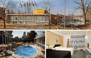 THE DIPLOMAT MOTEL St. Louis, MO Swimming Pool Roadside c1960s Vintage Postcard