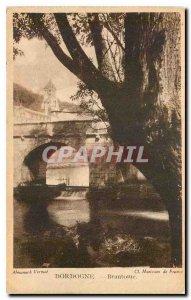 Old Postcard Dordogne Brantome