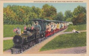 Michigan Benton Harbor Miniature Railway Train House Of David Curteich sk308