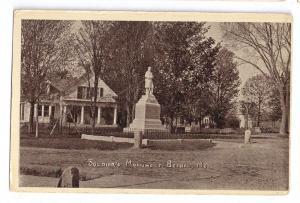 Bethel ME Soldiers Monument Civil War 1909 Postcard