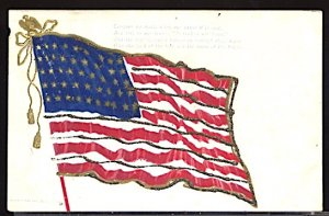 USA Patriotic With Flag Conquer We Must... Glitter UDB CDS 1906