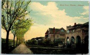 Phoenix, Arizona Postcard Residential Street Scene Mansions Houses / 1916 Cancel