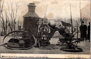 Destroyed Lynn Fire Engine #1 after Chelsea MA Fire 1908 undivided back