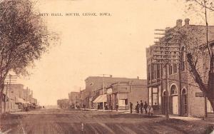 Lenox Iowa~City Hall~Main Street South~Kids Cross~Telephone Office~1910 ZIM PC