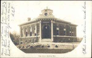 Hardwick MA Library c1910 Real Photo Postcard