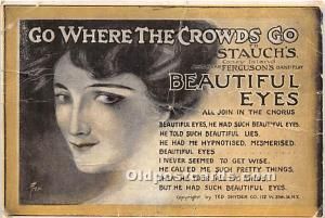 Amusement Park Postcard Post Card Go Where the Crowds Go to Stauch's Con...