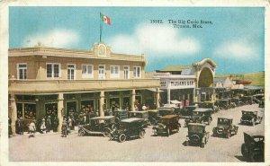 Automobiles Big Curio Stores Flags C-1910 Postcard Tijuana Mexico 11908