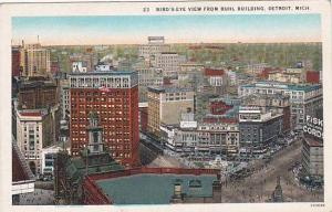 Michigan Detroit Birds Eye View From Buhl Building