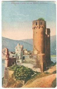 Ehrenfels Castle on the Rhine, Germany, early 1900s unused Postcard