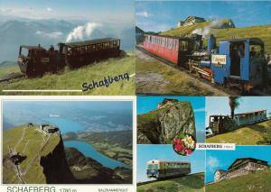 Schafberg Germany 4x Trains Railway Aerial Special Franked Postcard s