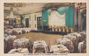 Illinois Chicago The New Empire Room Of The Palmer House Curteich