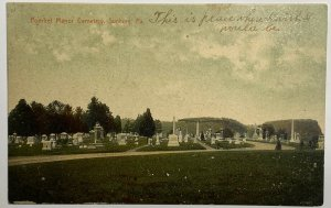 Old Divided Back Era Postcard Pomfret Manor Cemetery Sunbury, Pennsylvania 1908