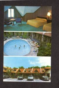 TN Reagan Motel Gatlinburg Tennessee Postcard Stuart Reagan Owner Pool Interior