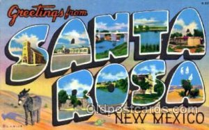 Greetings From Santa Rosa, New Mexico, USA Large Letter Town Unused