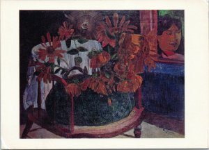 postcard Sunflowers by Paul Gauguin National Gallery of Art