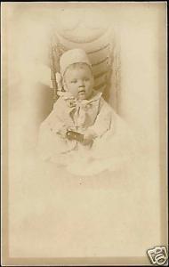 Sweet Little BABY CHILD DRESS 1910s Siegel Cooper RPPC