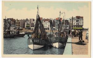 Belgium; Flanders, Blankenberge, Trawlers B613 & O263 In Harbour PPC, Unposted