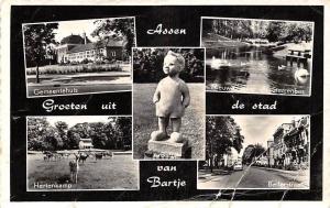 Netherlands Assen Bartje, Bellerstraat Hertenkamp Gemeentehuis Statue