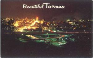 Night View of Tacoma Washington WA