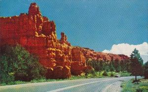 Highway In Red Canyon Bryce Canyon Nationa Park Utah